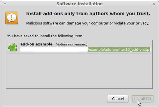 Install Add-on